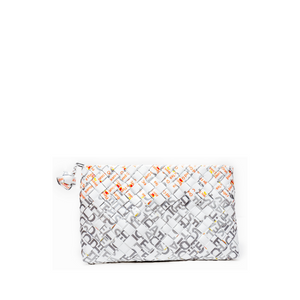 White Woven Clutch