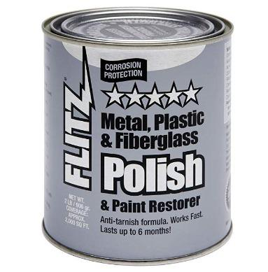 FLITZ Plastic and Fiberglass Polish Paste, 2.0-Pounds, Quart Can