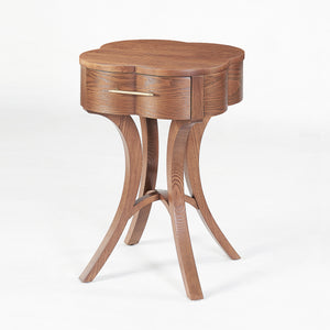 Luck Lucas solid ash wood side table
