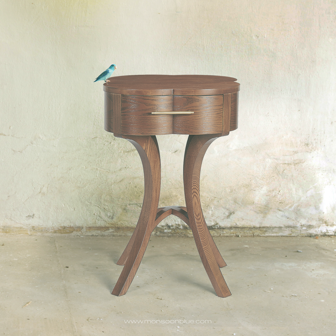 Modern solid ash side table