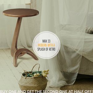 Max 33 modern solid ash side table