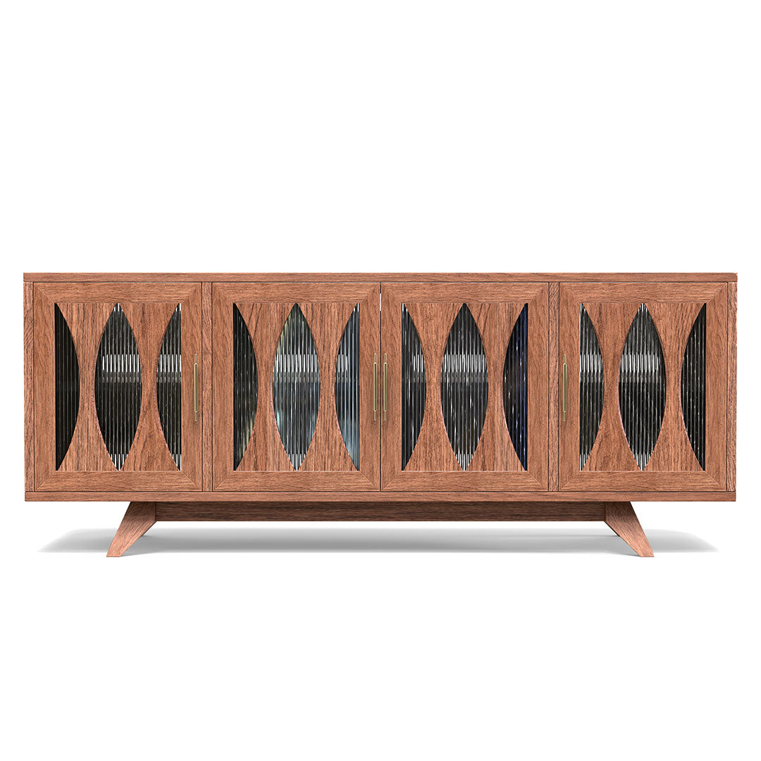 Monsoonblue solid ash media console