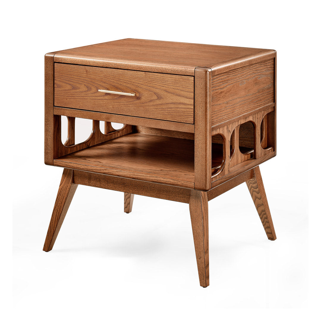 NOR modern solid ash frame closed nightstand
