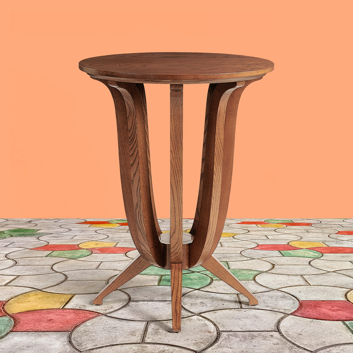 Imperial Deco solid Ash wood End Table - Cinnamon Ash