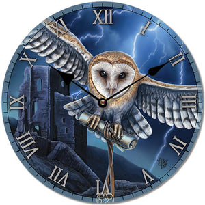 Lisa Parker Heart of the Storm Owl Clock