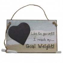 LBS Until Goal Weight Chalkboard