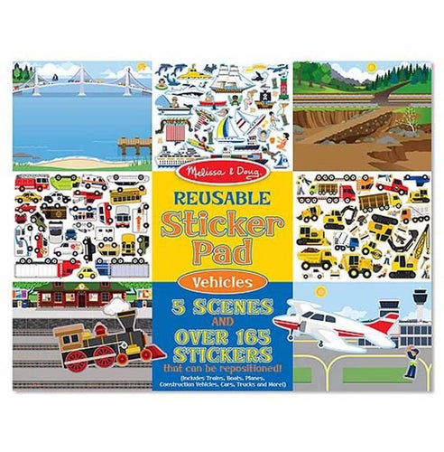 Melissa and Doug Reusable sticker pad - Vehicle