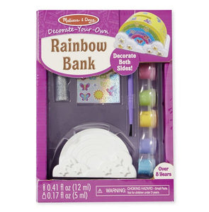 Melissa and Doug Rainbow Bank - Money Box - Paint your Own