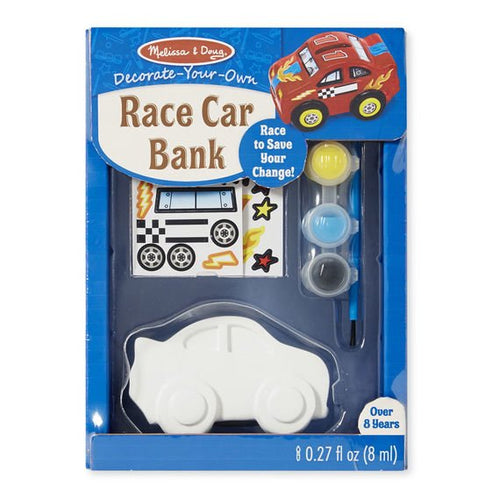 Melissa and Doug Race Car Bank - Money box - Paint your Own
