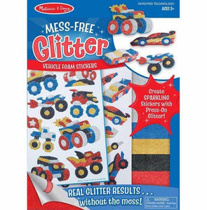 Melissa and Doug Mess free Glitter Vehicle Foam Stickers