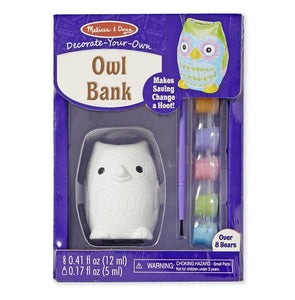 Melissa and Doug Owl - Money box - Paint your Own