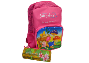 Fairy Door Backpack and Pencil Case Set