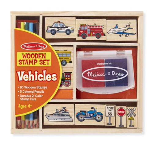 Melissa and Doug Stamp Set - Vehicles