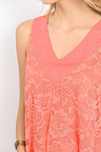 Load image into Gallery viewer, Lace Pleated Tank