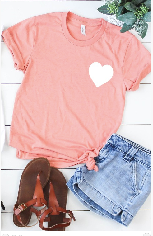 Heart Pocket Graphic Tee