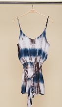Load image into Gallery viewer, Sleeveless Tie Dye Belted Waist Rompe