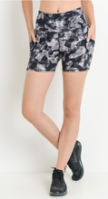 Load image into Gallery viewer, Highwaist Monochrome Camo Print Shorts