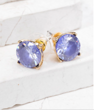 Load image into Gallery viewer, Cubic Zirconia Post Earrings