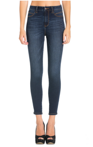 Dark Denim High Rise Ankle Jean