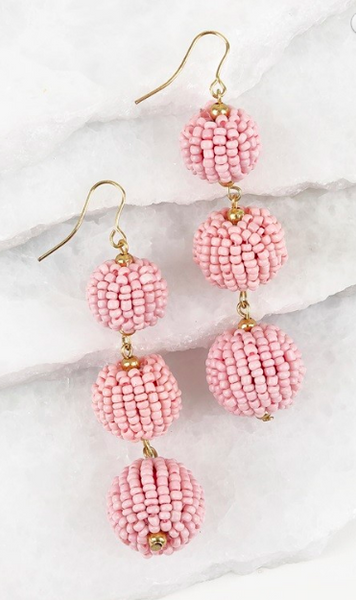 3 Ball Drop Earrings