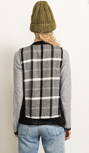 Plaid Back Vest