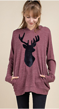 Load image into Gallery viewer, Reindeer Side Pocket Hoodie