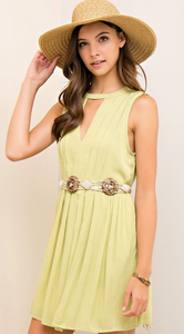 Key Lime Cut Out Dress