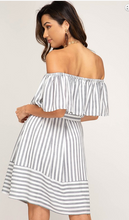 Load image into Gallery viewer, Off-Shoulder Striped Dress