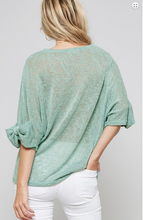 Load image into Gallery viewer, Sea You Soon Bow Sleeve Dolman