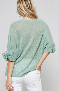 Sea You Soon Bow Sleeve Dolman