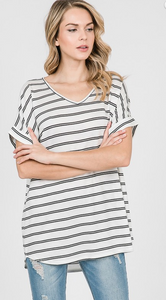 Poppy Striped Top