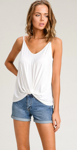 Front Knot Spaghetti Strap Tank