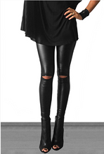 Load image into Gallery viewer, Cut Out Faux Leather Legging