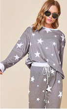 Load image into Gallery viewer, Star Printed Knit Pants with Drawstring