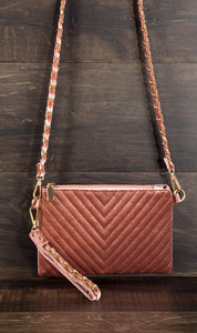Velvet Chevron Crossbody
