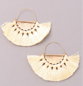 Baby Tassel Fan Dangle Earrings
