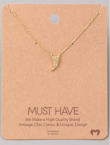 Dazzling Horn Charm Necklace