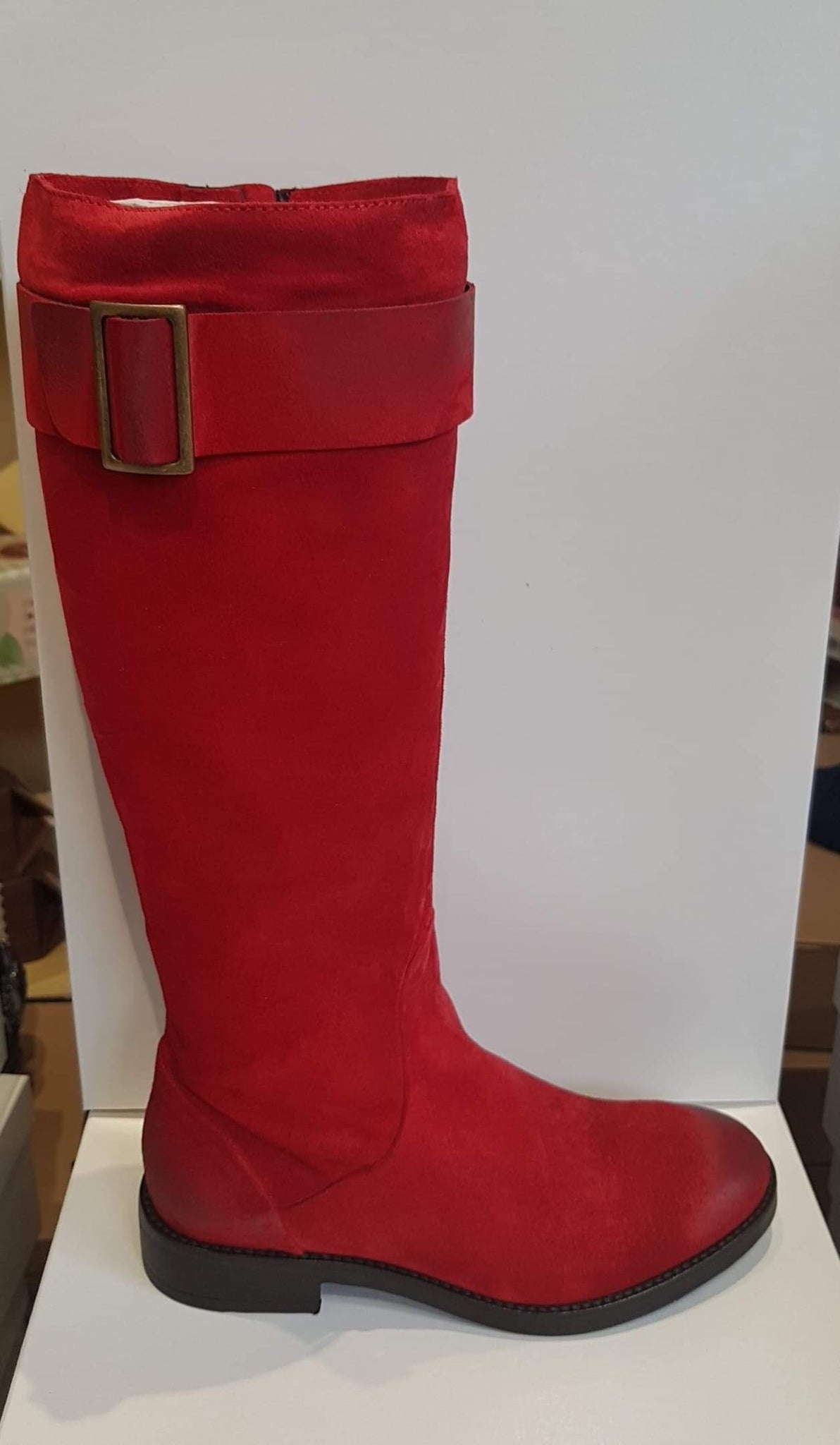 Alisa Bianchini Red boots made in italy