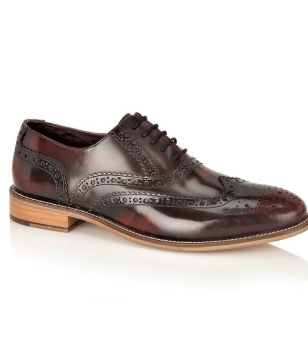 London Brogues Gatsby Bordo Polished Leather
