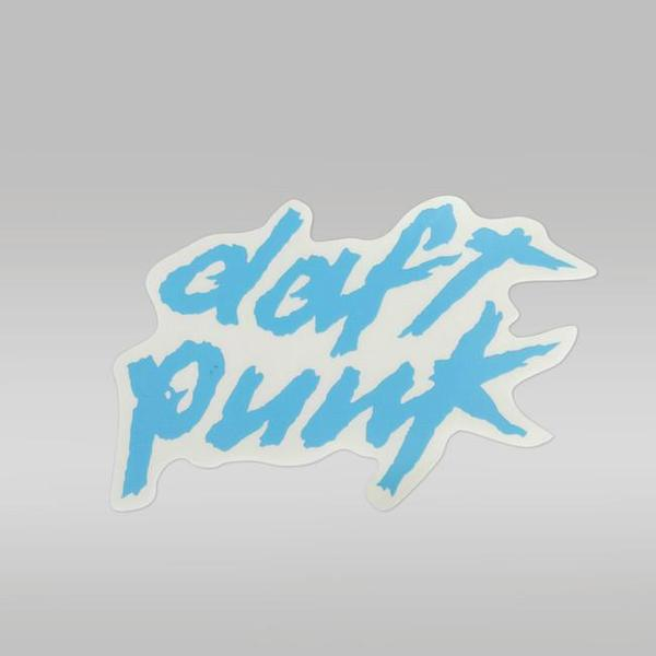 BLUE DAFT PUNK LOGO STICKER