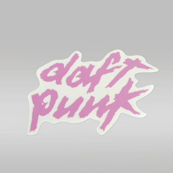 PINK DAFT PUNK LOGO STICKER - SMALL