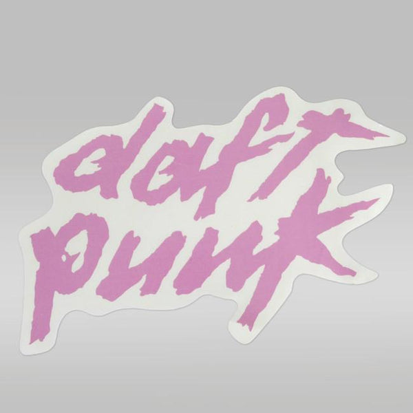 PINK DAFT PUNK LOGO STICKER - LARGE