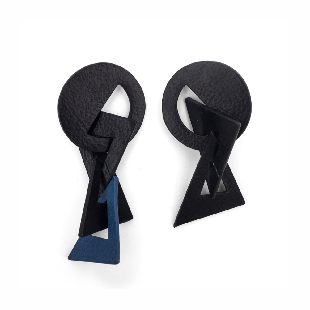 Picasso Earrings Black / Blue