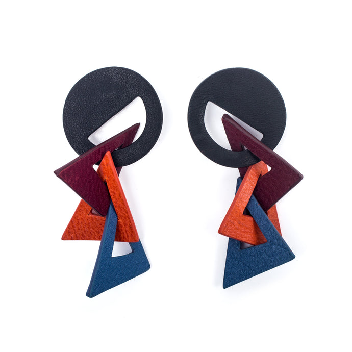 Picasso Earrings Flag