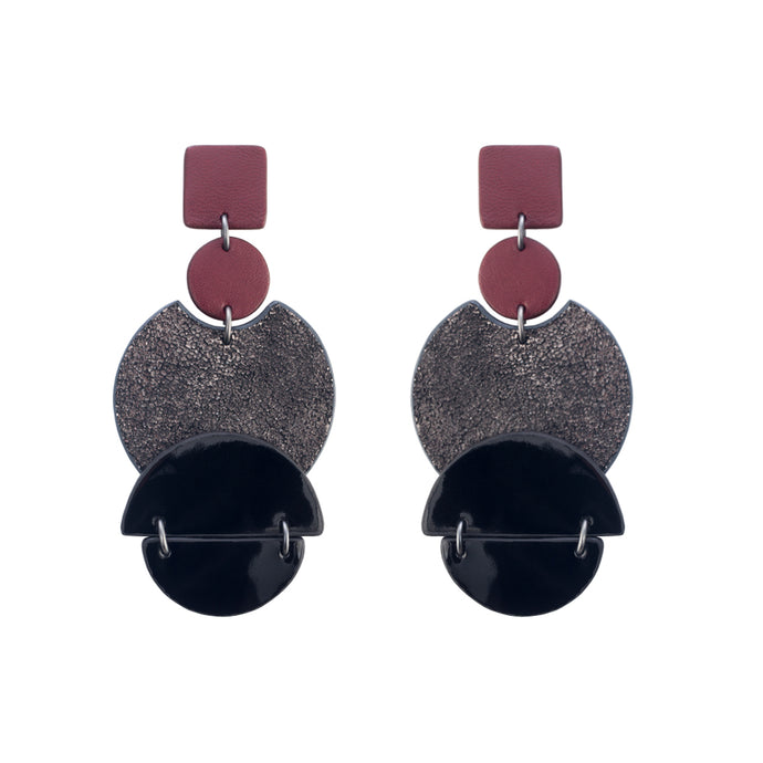 Loro Earrings Burgundy