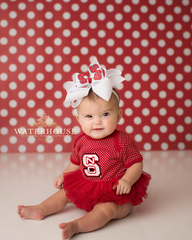 Red Polka Dots Photography Backdrop
