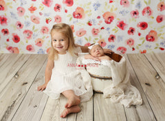 Red Floral Bouquet Photography Backdrop