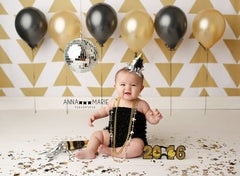Gold Triangles Photography Backdrop