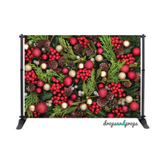 A Holly Jolly Christmas Photography Backdrop