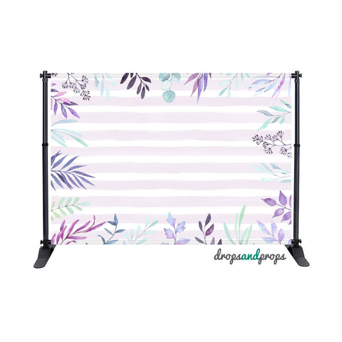 Amethyst Watercolor Spring Photography Backdrop